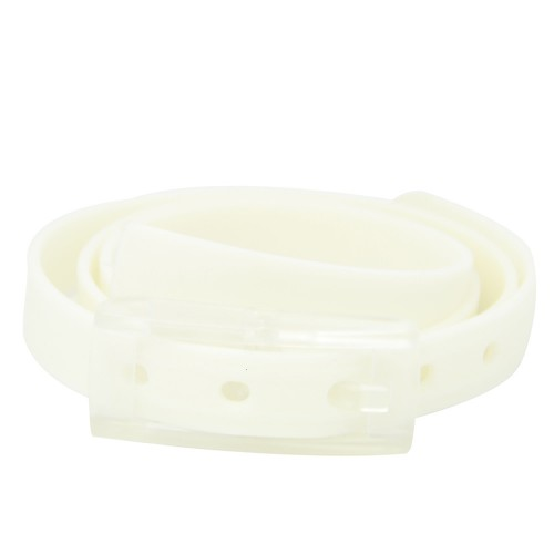 WOMEN'S BELT WHITE - WHITE