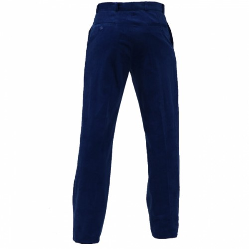 VELVET TROUSERS RED - NAVY BLUE