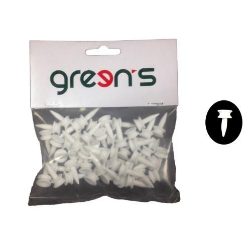 GREEN'S - 50 TEES PLASTIC ETAGE BLANC