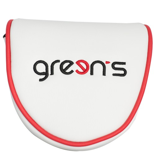 MALLET PUTTER COVER GREEN - WHITE/RED