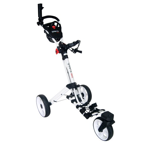 360 - 3 WHEEL TROLLEY WHITE/RED - CHARCOAL/RED