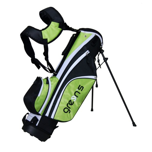 JUNIOR STAND BAG WHITE - BLACK/WHITE/GREEN