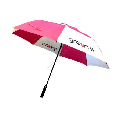 GREEN'S - PARAPLUIE LOGO GREENS - ROSE/BLANC