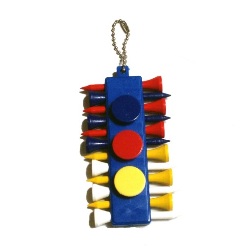TEE BALL MARKER DIVOT TOOL HOLDER - MULTICOLORE