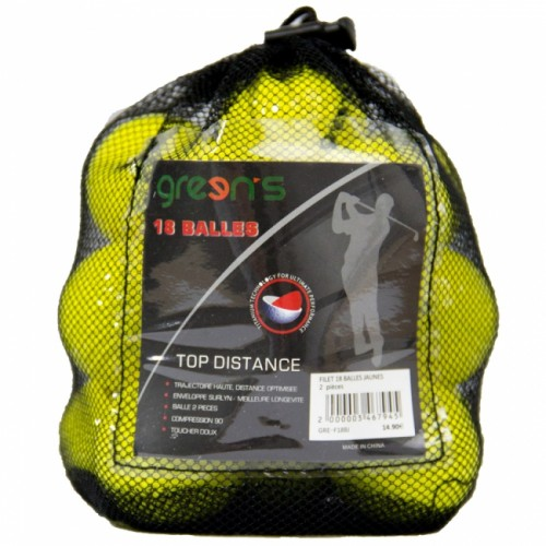 NET OF 18 FOAM BALLS YELLOW - JAUNE