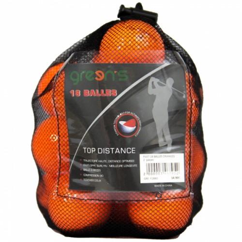 NET OF 18 FOAM BALLS ORANGE