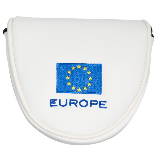 EUROPE MALLET PUTTER HEAD COVER - WHITE