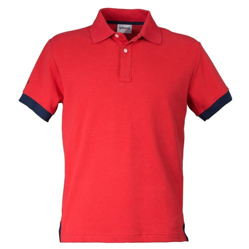 GREEN'S - POLO BOGEY  - ROUGE/MARINE