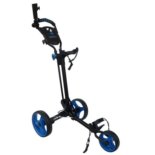 GREEN'S COMPACT GOLF TROLLEY WHITE/PINK - BLACK/BLUE