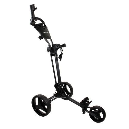 GREEN'S COMPACT GOLF TROLLEY WHITE/PINK - CHARCOAL/BLACK