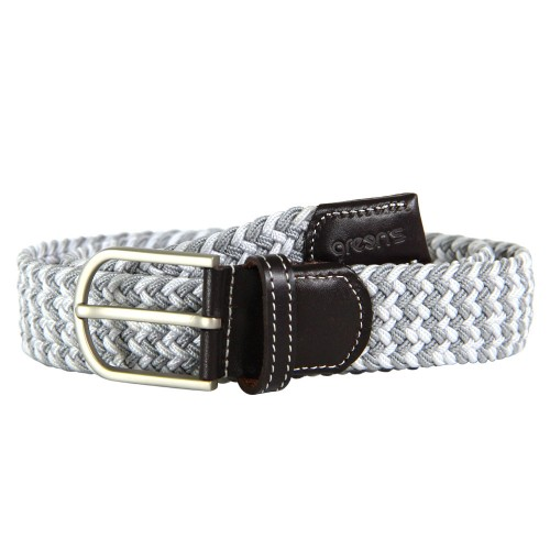 GREEN'S - CEINTURE STRESSEE - WHITE/GREY
