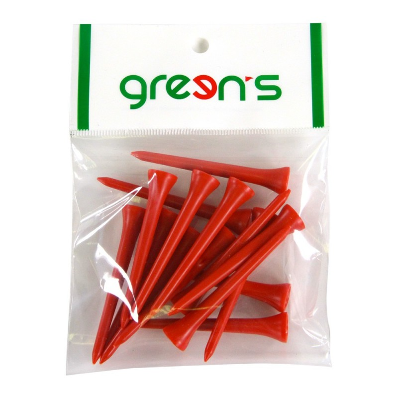GREEN'S - 15 TEES PLASTIQUE 70MM